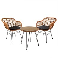 Wicker Rattan Bistro Set