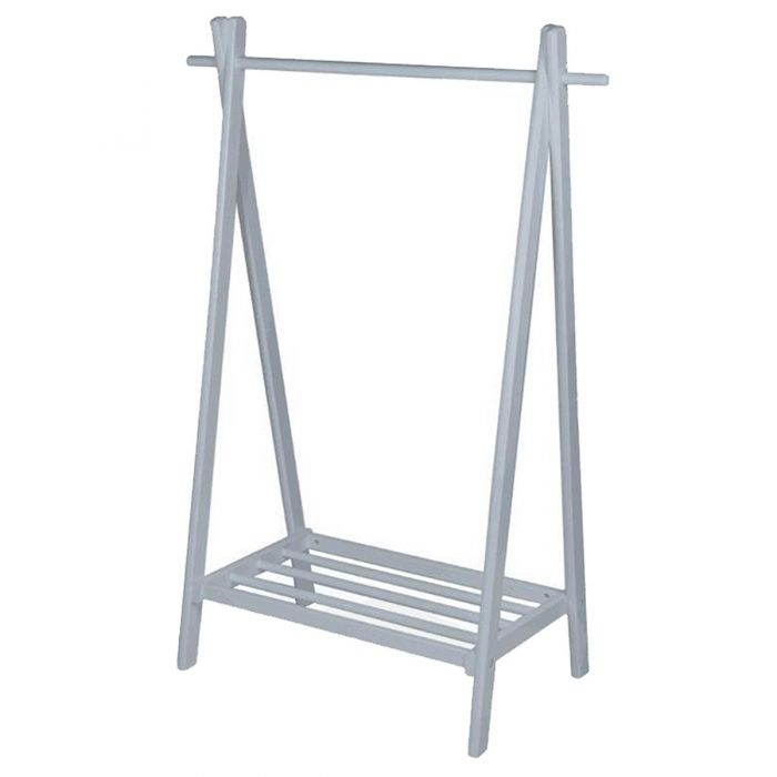 Wooden Clothes Rail Grey or White