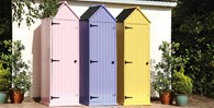 Wooden Garden Shed in Pink Blue or Yellow