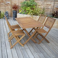 Wooden Garden Table and Chairs Hardwood