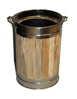 Wooden Lined Coal Bucket