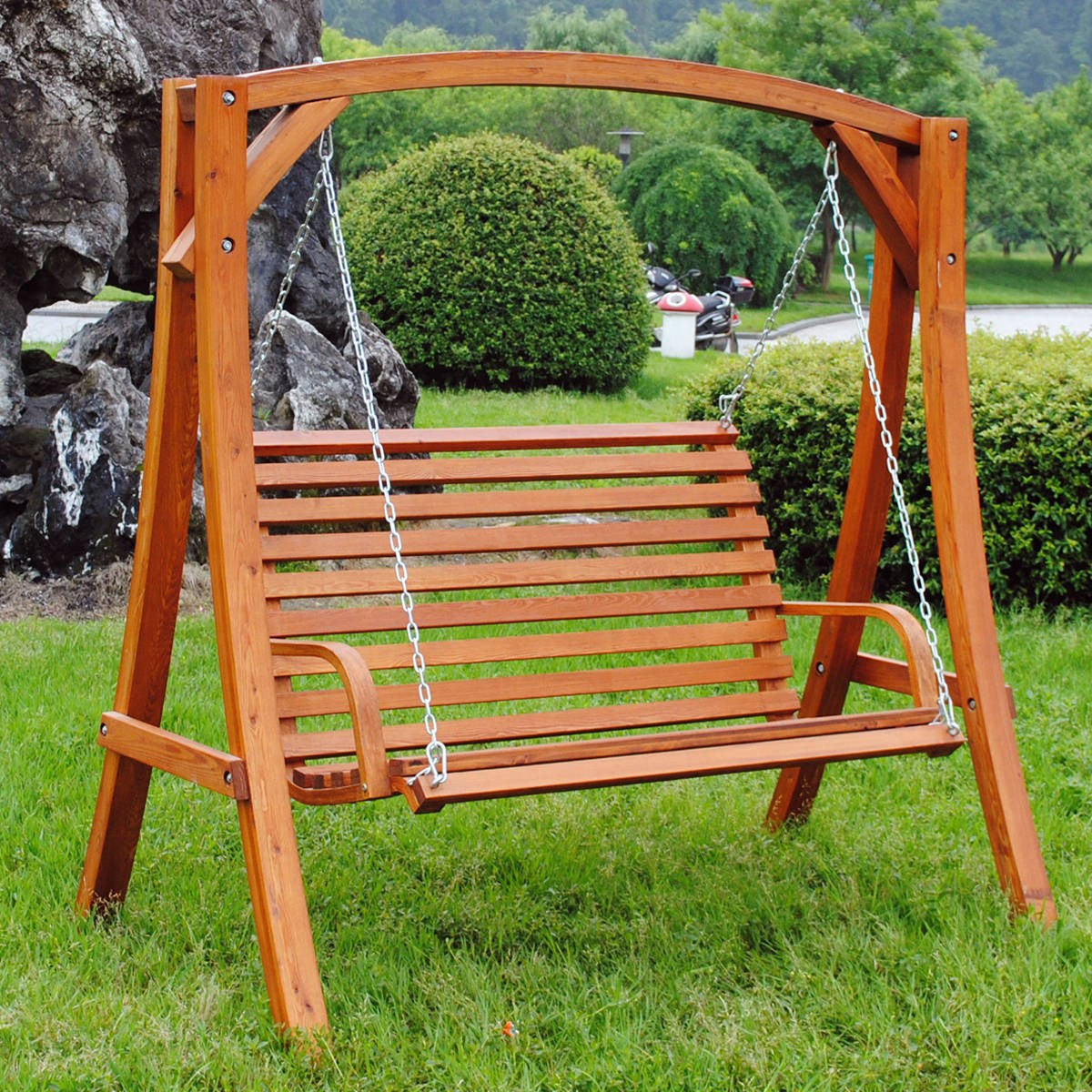 Wooden Swinging Garden Bench 2-3 Seater