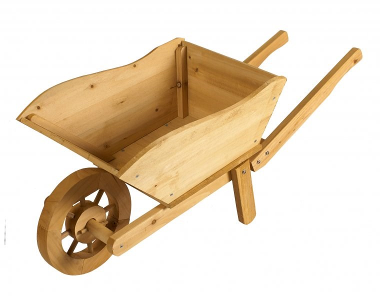 Wooden Wheelbarrow Planter - savvysurf.co.uk