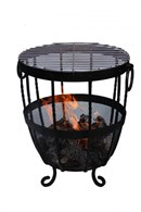 Wrought Iron Firepit with BBQ Grill