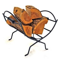 Wrought Iron Folding Log Holder