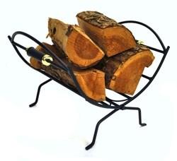 Wrought Iron Folding Log Holder