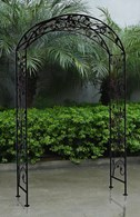 Shabby Chic Wrought Iron Garden Arch Pergolas in White or Black