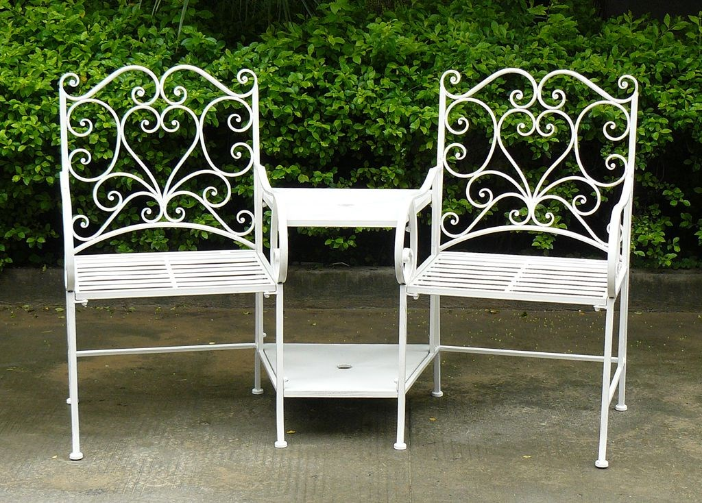 Wrought Iron Garden Table and Chairs Set