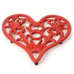 Wrought Iron Heart Trivet
